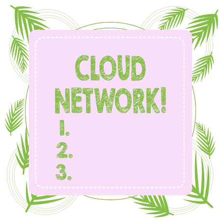 Text sign showing Cloud Network. Business photo text Access of networking resources from centralized provider