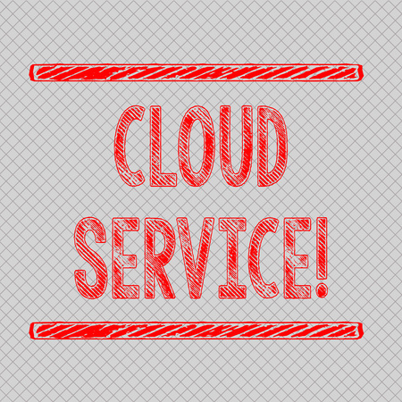 Writing note showing Cloud Service. Business concept for refers to variety of resources provided over the internet Diagonal Gray Grid Mesh Cell in Parallel Line Intertwined Pattern Imagens