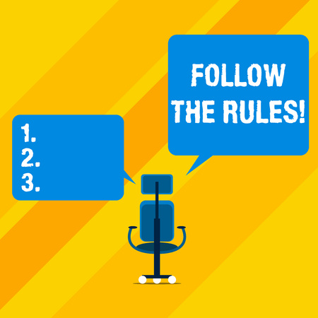 Text sign showing Follow The Rules. Business photo text go with regulations governing conduct or procedure Фото со стока