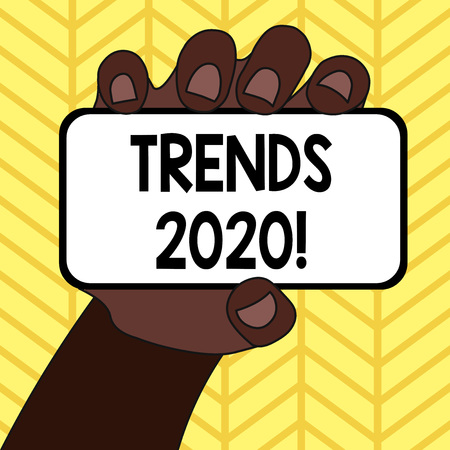Handwriting text writing Trends 2020. Conceptual photo general direction in which something is developing or changing Stock Photo