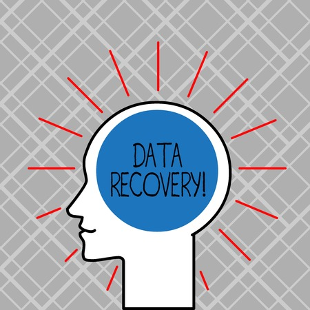Word writing text Data Recovery. Business photo showcasing process of salvaging inaccessible lost or corrupted data