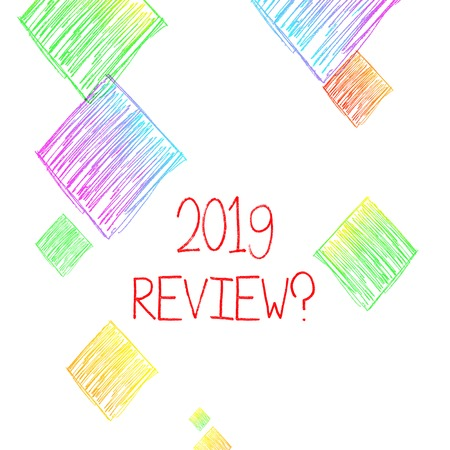 Writing note showing 2019 Review Question. Business concept for remembering past year events main actions or good shows