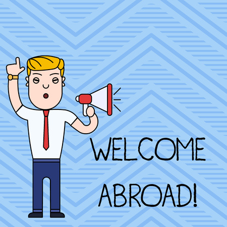 Handwriting text writing Welcome Abroad. Conceptual photo something that you say when someone gets on ship