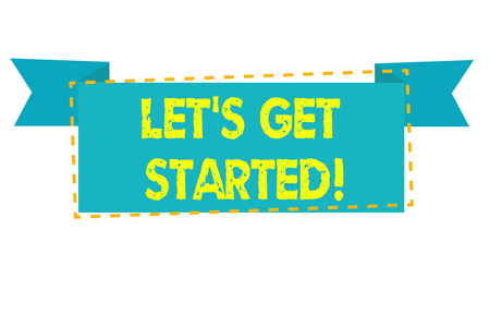 Text sign showing Lets Get Started. Business photo text encouraging someone to begin doing something Stock Photo