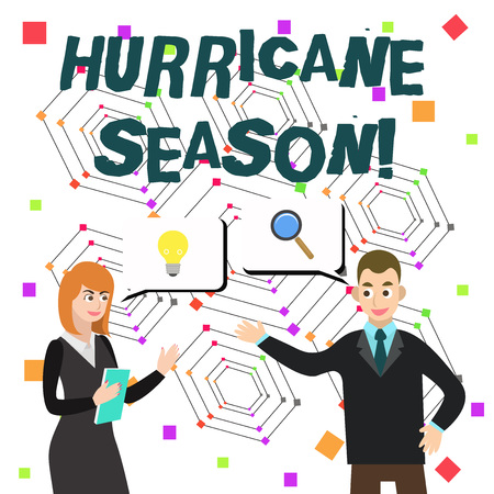 Word writing text Hurricane Season. Business photo showcasing time when most tropical cyclones are expected to develop Imagens