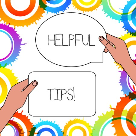 Word writing text Helpful Tips. Business photo showcasing advices given to be helpful knowledge in life