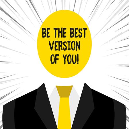 Schreiben von Hinweisen, die zeigen, dass Sie die beste Version von Ihnen sind. Geschäftskonzept für den Umzug weg von wo beginnen sich zu verbessern?