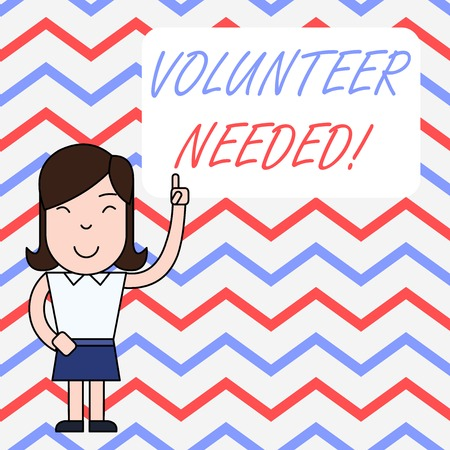 Handwriting text writing Volunteer Needed. Conceptual photo asking demonstrating to work for organization without being paid
