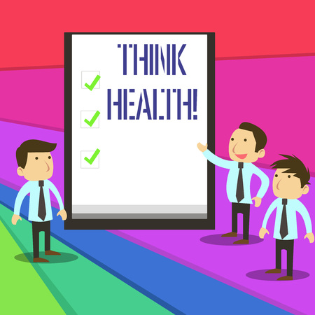 Word writing text Think Health. Business photo showcasing state of complete physical mental and social well being