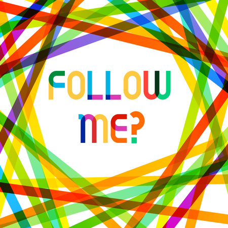 Writing note showing Follow Me Question. Business concept for go or come after demonstrating or thing proceeding ahead Stok Fotoğraf