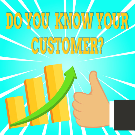 Text sign showing Do You Know Your Customer Question. Business photo text service identify clients with relevant information Stock fotó