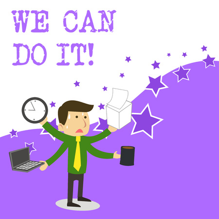 Text sign showing We Can Do It. Business photo text see yourself as powerful capable demonstrating Reklamní fotografie - 122858133