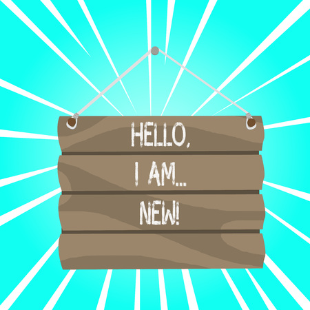 Writing note showing Hello I Am New. Business concept for used greeting or begin telephone conversation Stock fotó