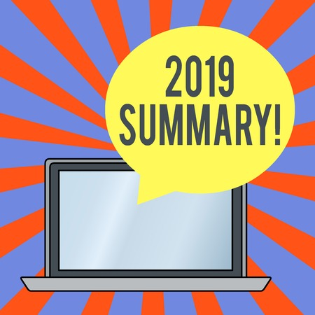 Handwriting text 2019 Summary. Conceptual photo summarizing past year events main actions or good shows