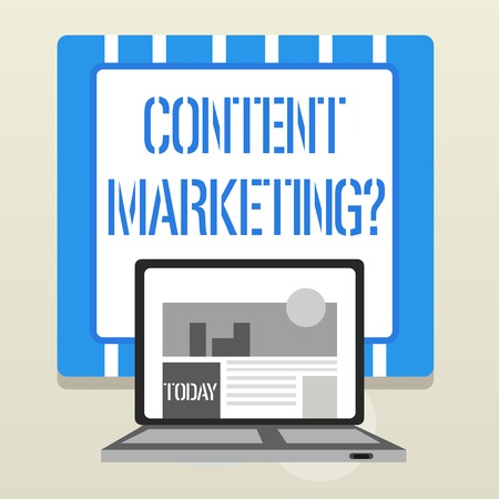 Word writing text Content Marketing Question. Business photo showcasing involves creation and sharing of online material Stok Fotoğraf
