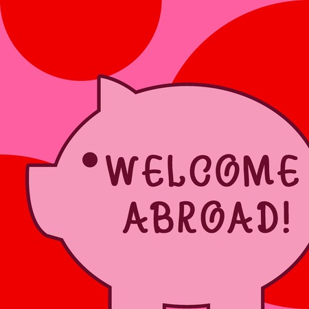 Conceptual hand writing showing Welcome Abroad. Concept meaning something that you say when someone gets on ship Stockfoto