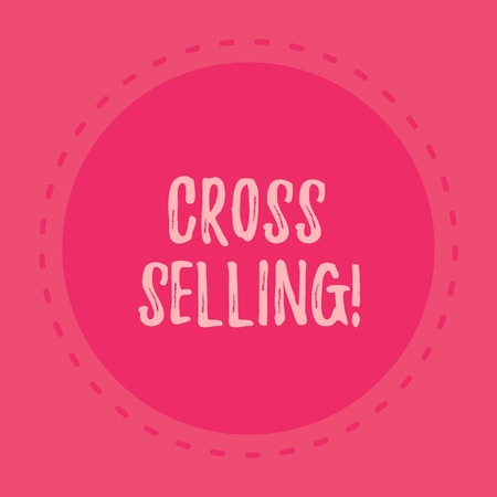 Handwriting text writing Cross Selling. Conceptual photo to sell complementary products to an existing customer Stock fotó