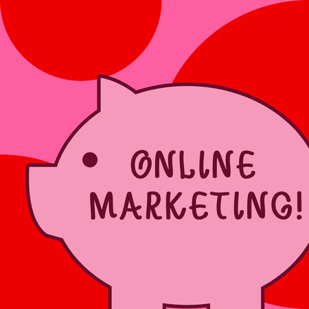 Conceptual hand writing showing Online Marketing. Concept meaning leveraging web based channels spread about companys brand