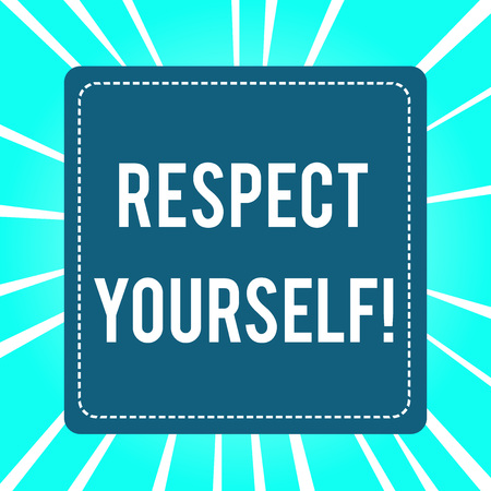Handwriting text Respect Yourself. Conceptual photo believing that you good and worthy being treated well 写真素材