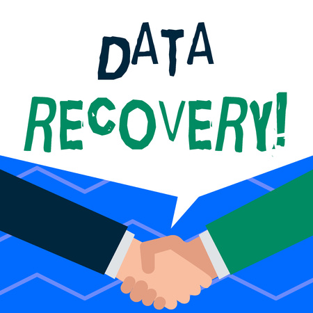 Handwriting text writing Data Recovery. Conceptual photo process of salvaging inaccessible lost or corrupted data Banque d'images