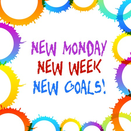 Word writing text New Monday New Week New Goals. Business photo showcasing goodbye weekend starting fresh goals targets Stock fotó