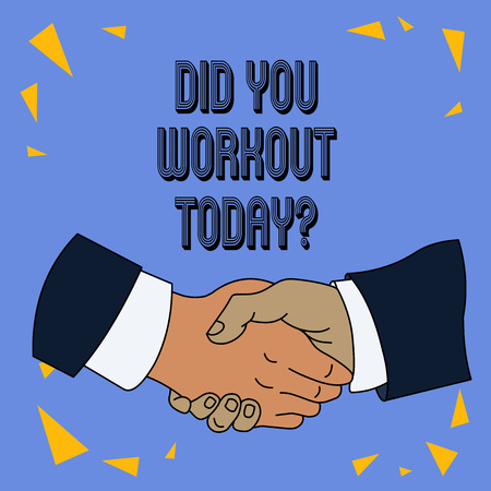 Writing note showing Did You Workout Today. Business concept for asking if made session physical exercise Imagens - 122925050