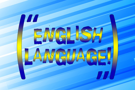 Writing note showing English Language. Business concept for third spoken native lang in world after Chinese and Spanish