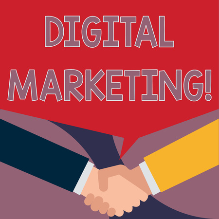 Handwriting text writing Digital Marketing. Conceptual photo market products or services using technologies on Internet Imagens