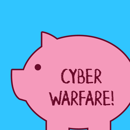 Handwriting text Cyber Warfare. Conceptual photo activity of using the internet to attack a country s is computers