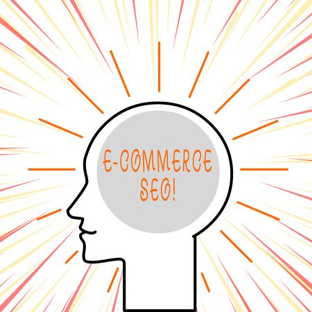 Conceptual hand writing showing E Commerce Seo. Concept meaning making your online store more visible in the search engine