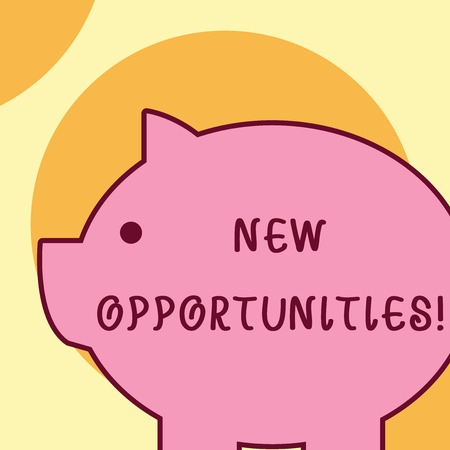 Text sign showing New Opportunities. Business photo text exchange views condition favorable for attainment goal