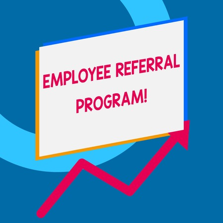 Writing note showing Employee Referral Program. Business concept for internal recruitment method employed by organizations