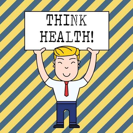 Text sign showing Think Health. Business photo showcasing state of complete physical mental and social well being Banco de Imagens