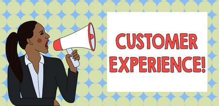 Writing note showing Customer Experience. Business concept for product of interaction between organization and buyer Stock Photo