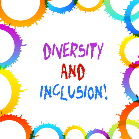 Word writing text Diversity And Inclusion. Business photo showcasing range huanalysis difference includes race ethnicity gender
