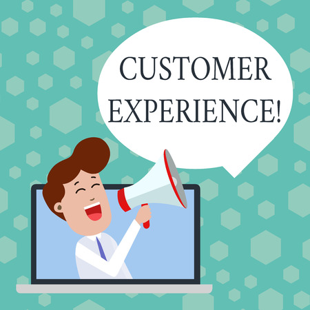 Text sign showing Customer Experience. Business photo showcasing product of interaction between organization and buyer