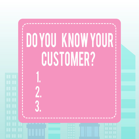 Writing note showing Do You Know Your Customer Question. Business concept for service identify clients with relevant information 스톡 콘텐츠