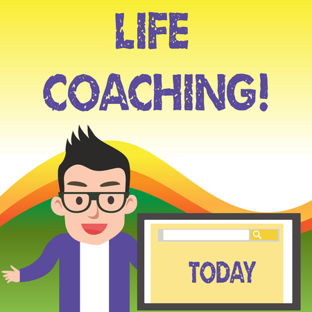 Text sign showing Life Coaching. Business photo showcasing demonstrating employed to help showing attain their goals in career
