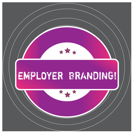Writing note showing Employer Branding. Business concept for promoting company employer choice to desired target group