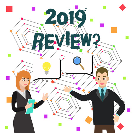Word writing text 2019 Review Question. Business photo showcasing remembering past year events main actions or good shows