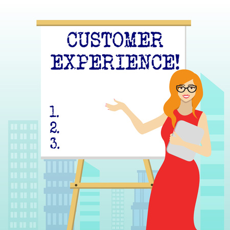 Writing note showing Customer Experience. Business concept for product of interaction between organization and buyer 스톡 콘텐츠