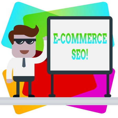 Word writing text E Commerce Seo. Business photo showcasing making your online store more visible in the search engine 스톡 콘텐츠