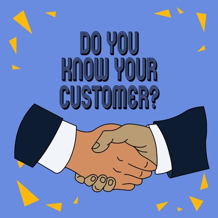 Writing note showing Do You Know Your Customer Question. Business concept for service identify clients with relevant information
