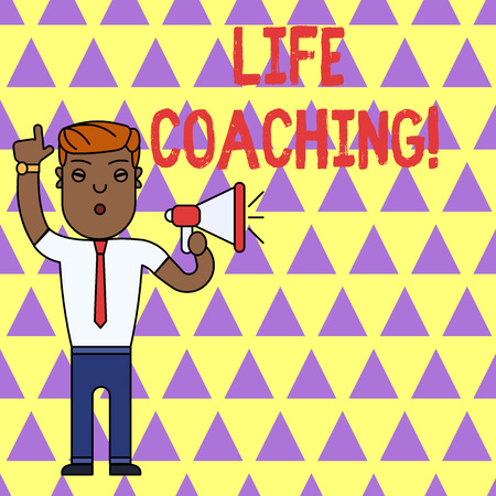 Writing note showing Life Coaching. Business concept for demonstrating employed to help showing attain their goals in career
