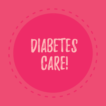 Handwriting text writing Diabetes Care. Conceptual photo Journal for the health care practitioner to treat diabetes