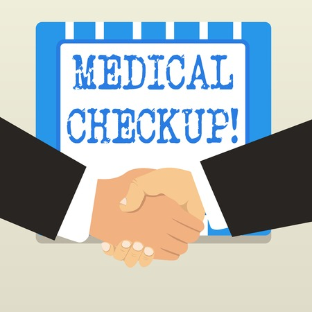 Word writing text Medical Checkup. Business photo showcasing thorough physical examination includes variety of tests 스톡 콘텐츠