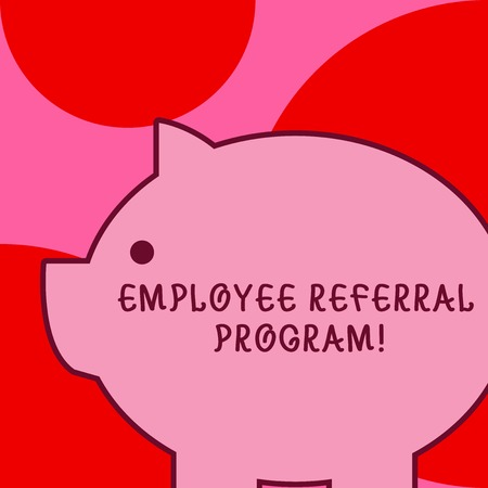 Conceptual hand writing showing Employee Referral Program. Concept meaning internal recruitment method employed by organizations