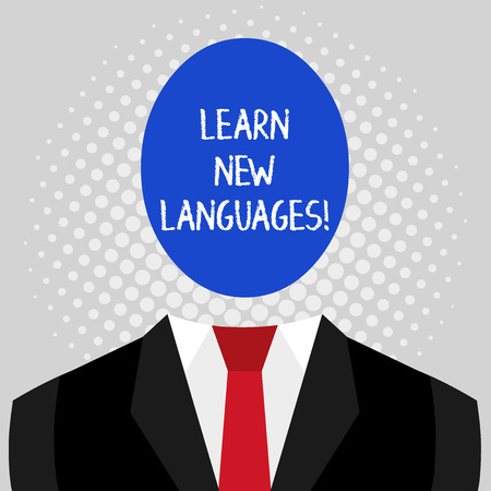 Word writing text Learn New Languages. Business photo showcasing developing ability to communicate in foreign lang