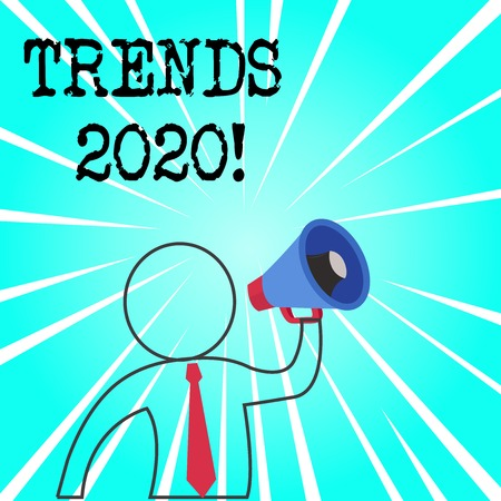 Word writing text Trends 2020. Business photo showcasing general direction in which something is developing or changing Stock Photo