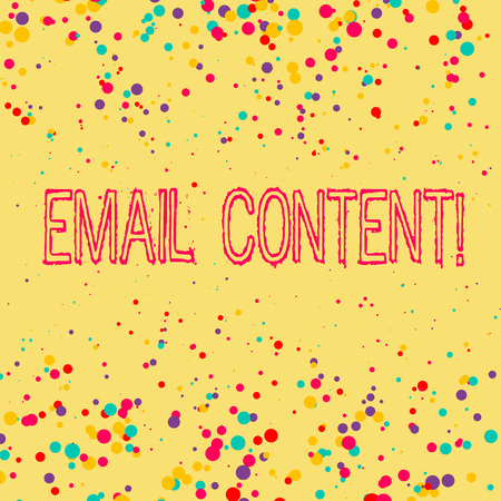 Word writing text Email Content. Business photo showcasing It is the essence of a communicated message or discourse Stok Fotoğraf